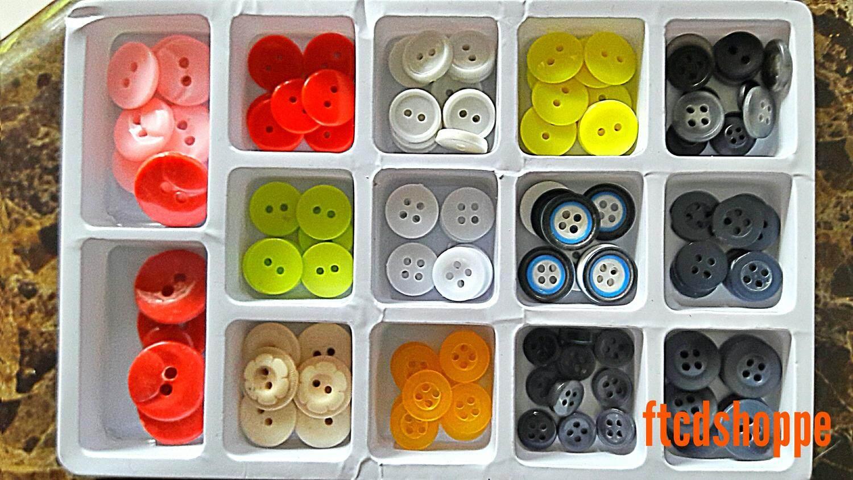 125 Pcs Mix Pattern Button / Butang Campuran Pelbagai Jenis