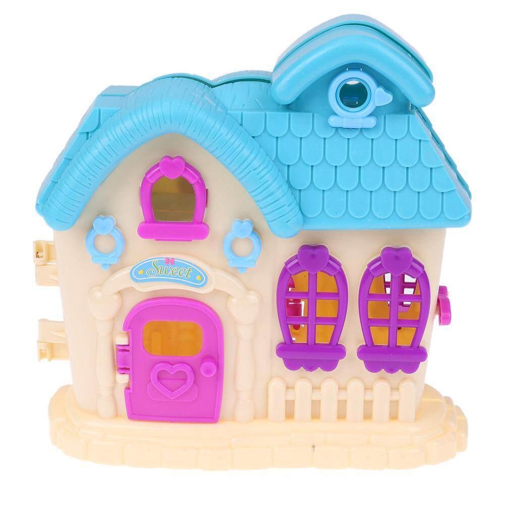 Hình ảnh Biệt thự Nhà Trẻ Em Gái Nhà Chơi Giả Đồ Chơi cho Búp Bê Barbie Phụ Kiện-quốc tế