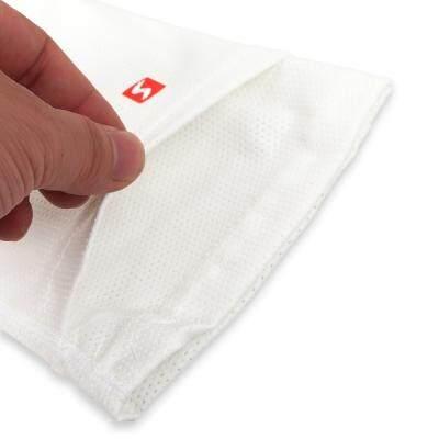 Shiwei Pair of Soccer Socks Shin Calf Sleeves for Legs Pads Pocket Breathable Polyester (WHITE)