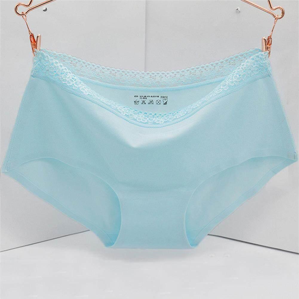 Wanita Seksi Renda Pinggang Tengah Seamless Panties Celana Dalam -Internasional 63c57a6617