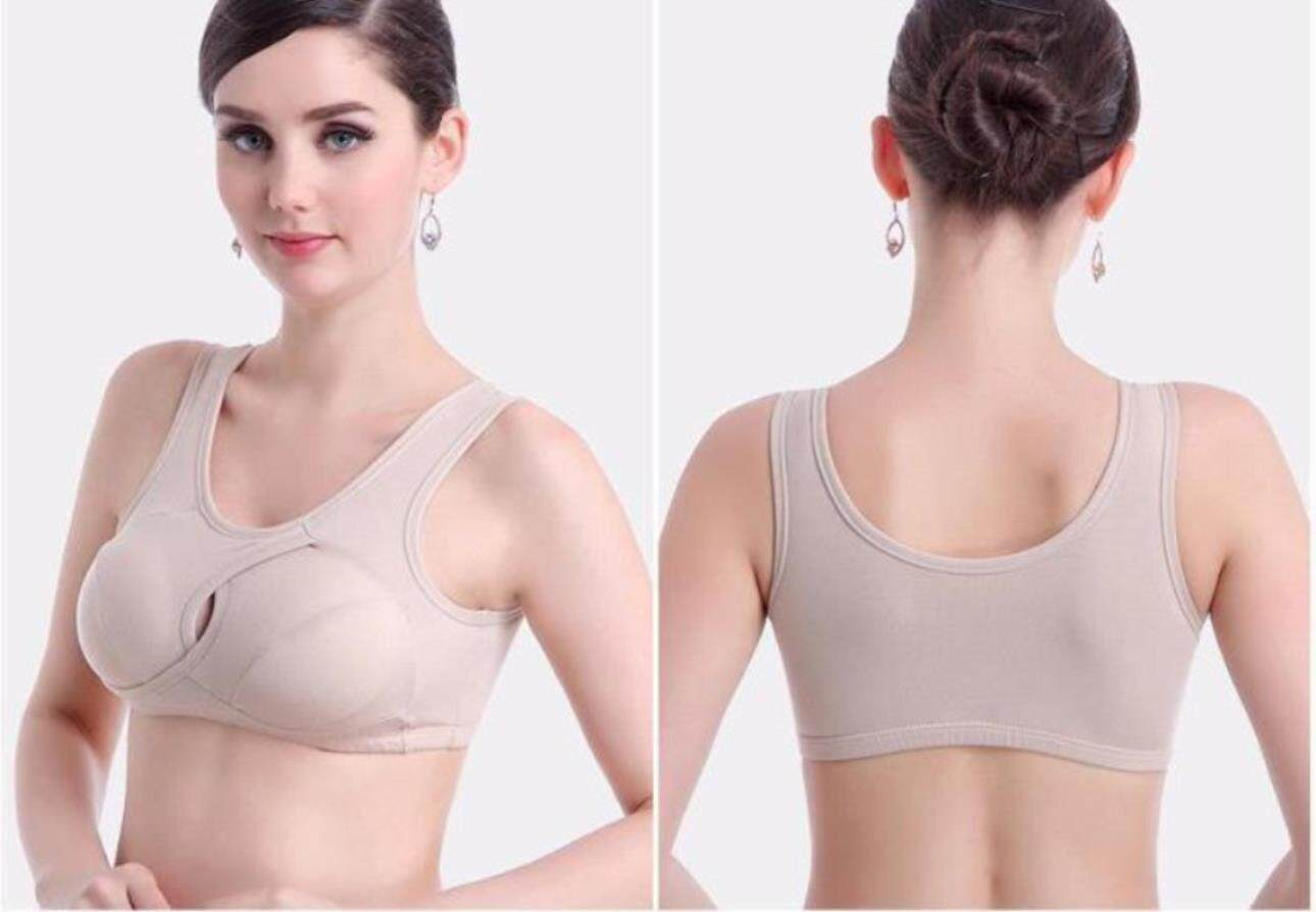 Pure Cotton No Scar Sleep Bras Without Steel Ring Shock Proof Yoga Underwear Running Bras By Super Star Store.