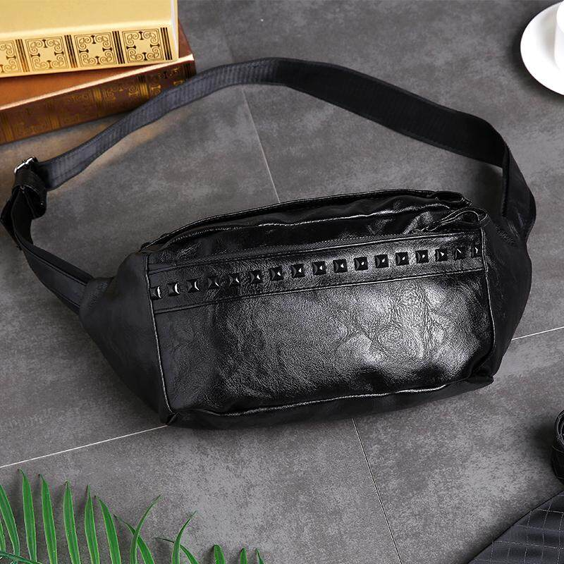(READY STOCK) Leather Chest, Waist Sling Bag/ Cross Body Bags (Black, Brown)