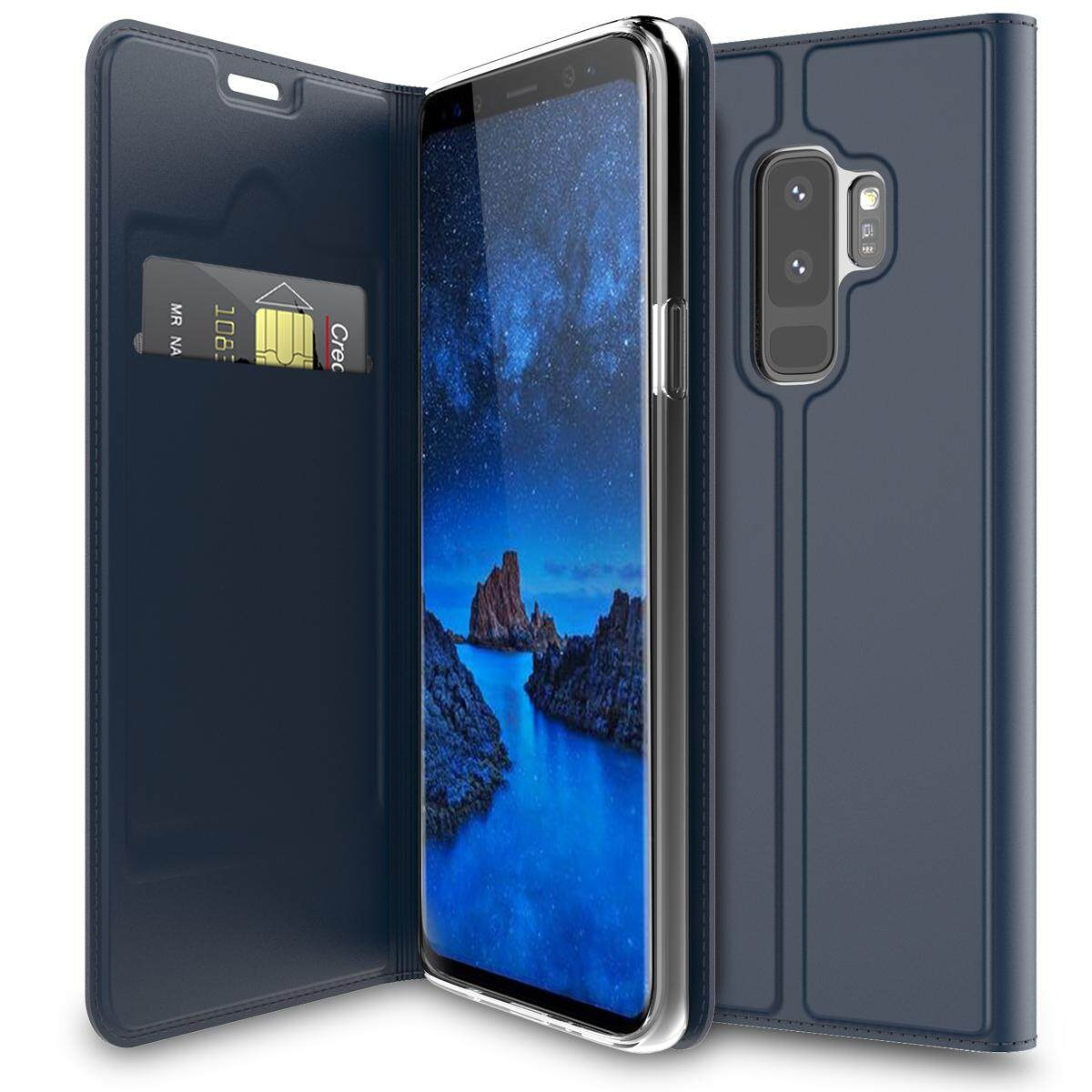 Luxury Leather Case Slim Book Design Magnetic Flip Stand Protective Cover With Card Slot For Samsung Galaxy S9 Plus Intl Coupon Code
