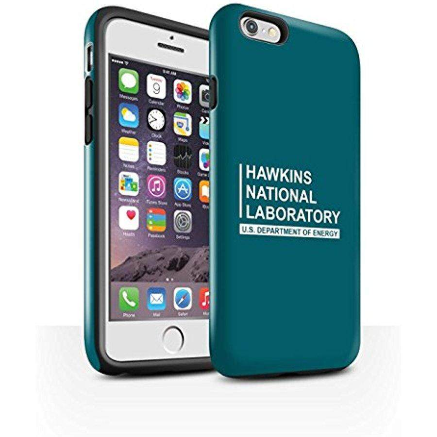 STUFF4 Gloss Tough Shock Proof Phone Case for Apple iPhone 6S / Teal Design / Hawkins National Laboratory Collection