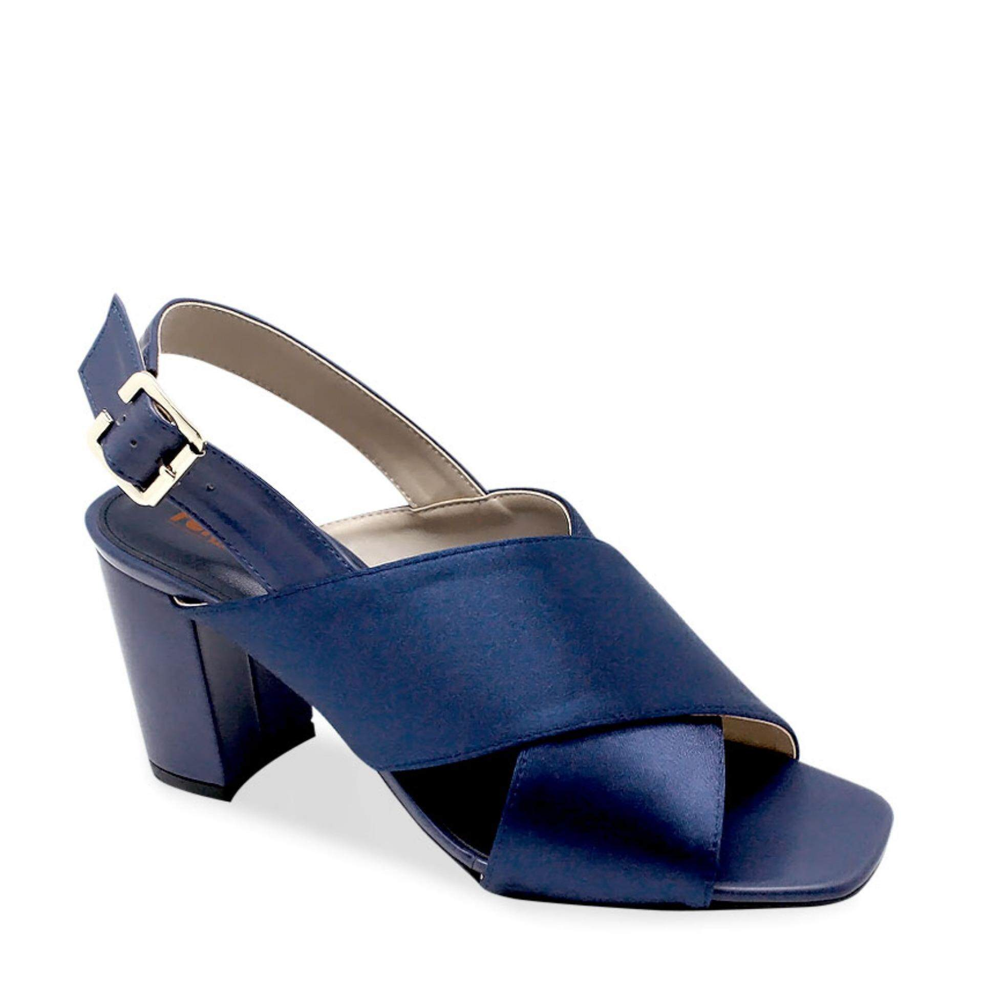 Renoma Women Shoes Minimalist Styles Block Heels Sandals In Dark Blue Color Hot Deals
