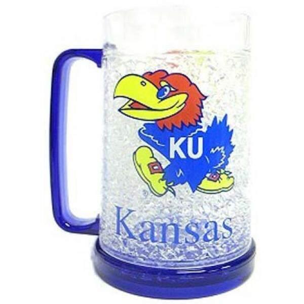 Kansas Jayhawks Plastic Crystal Freezer Mug - intl