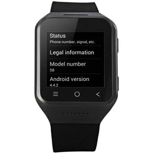 ZGPAX S8 1.54 INCH WITH SIM MP3 BLUETOOTH GPS TOUCH SCREEN SMART WATCH PHONE (BLACK)