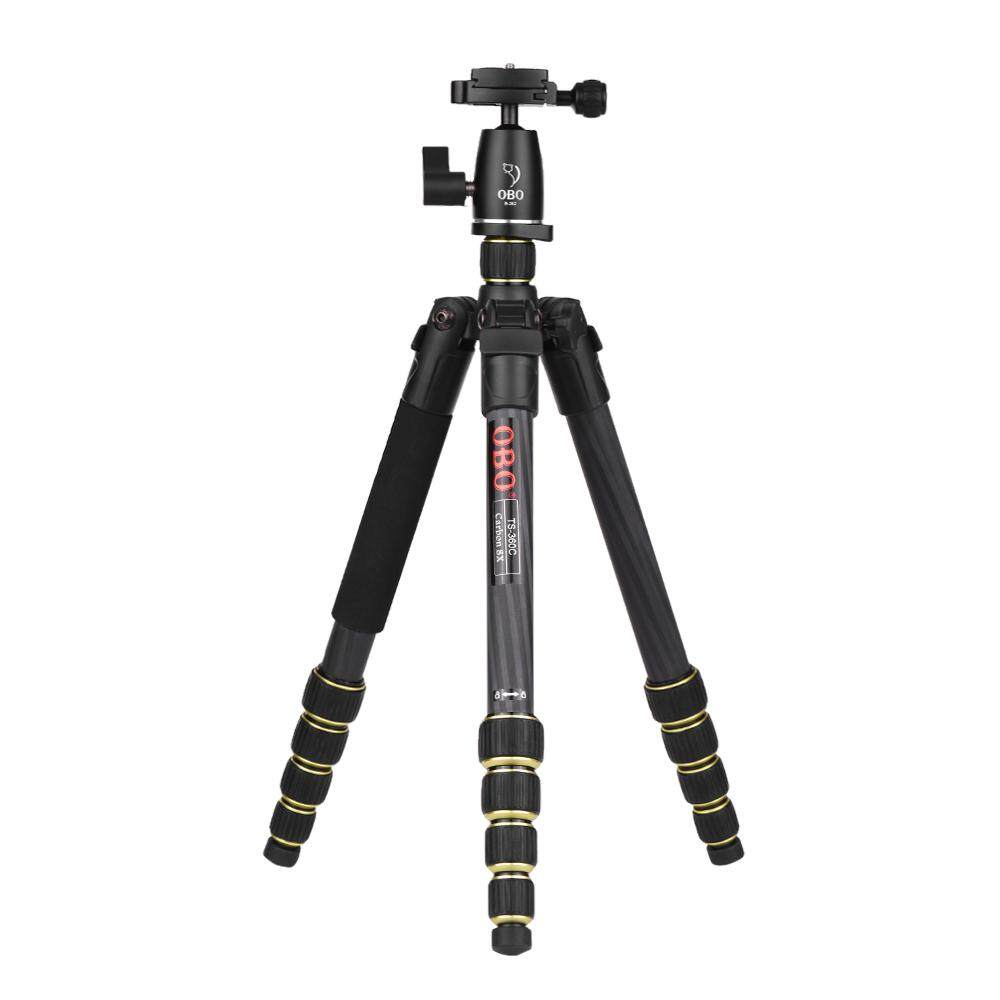 Retail Price Obo Ts360C Foldable Portable Carbon Fiber Camera Tripod Travel Tripod Monopod With B262 Panoramic Ball Head 5 Sections Max Working Height 150Cm For Canon Nikon Sony Dslr Ildc Cameras Max Load 10Kg Intl