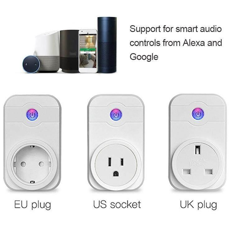 WiFi Nhà Thông Minh Ổ Cắm Cắm ỨNG DỤNG Điều Khiển từ xa Wifi Công Tắc Ổ Cắm Hỗ Trợ Cắm Amazon Alex, Echo-quốc tế