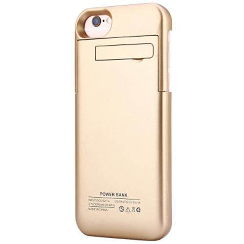 3200MAH BACKUP BATTERY EXTERNAL POWER BANK CHARGER CASE WITH KICKSTAND FOR IPHONE 6 / 6S / 7 4.7 INCH (GOLDEN)