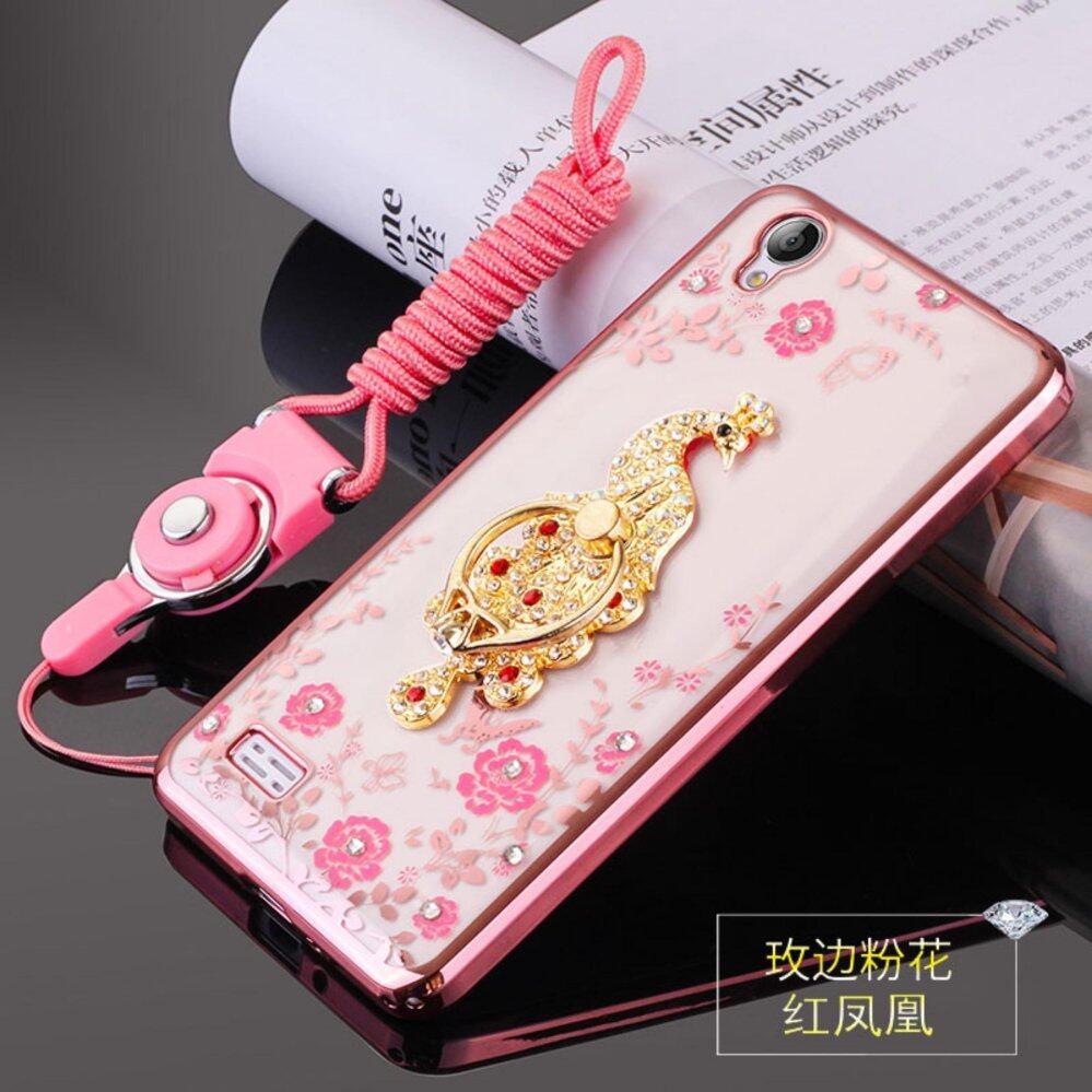 Berlian Buatan Telepon Case Sarung Penahan Penyangga Pelindung Ultra Tipis Silikon Lembut Case untuk VIVO Y18/Y18L 4.7