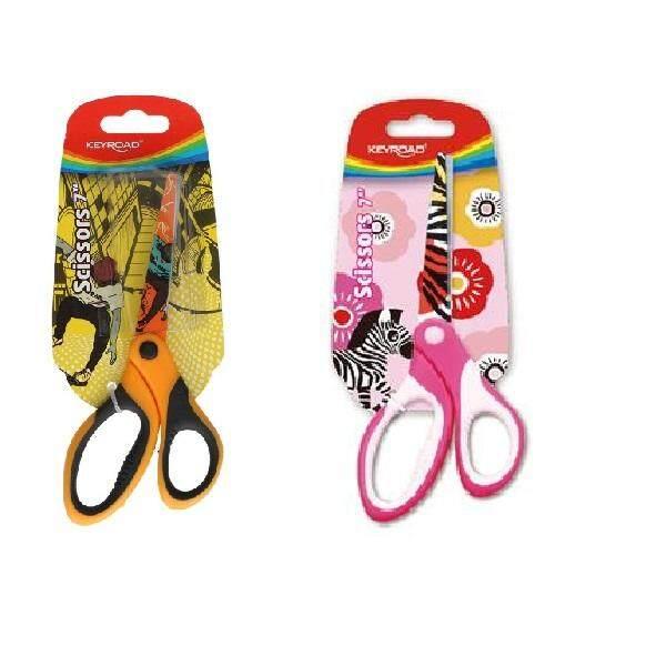 Keyroad 18cm Scissors ''Soft Grip Tattoo'' KR-970482 ( set of 2 pcs )