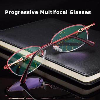 KCASA Progressive Multifocus Reading Glasses Asymptotic Multifocal Metal Computer Glass 4500 +150