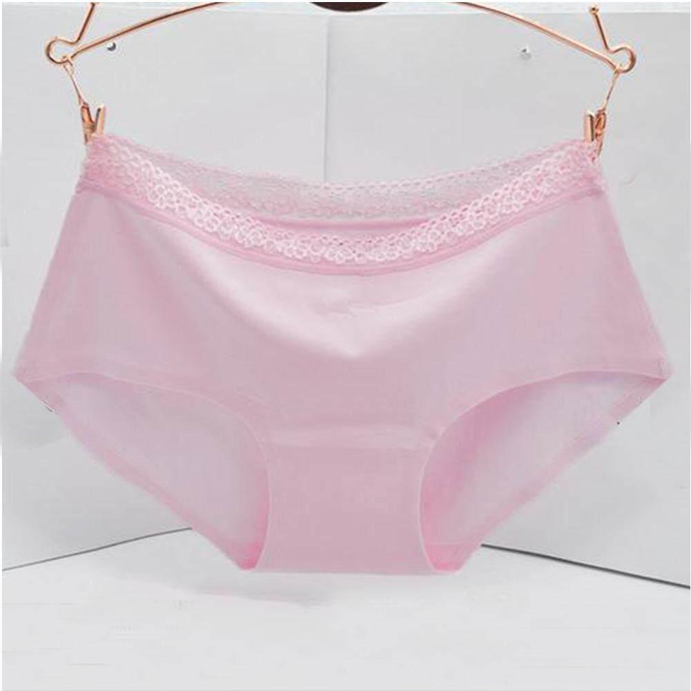 Wanita Seksi Renda Pinggang Tengah Seamless Panties Celana Dalam  -Internasional 48fc9297f9