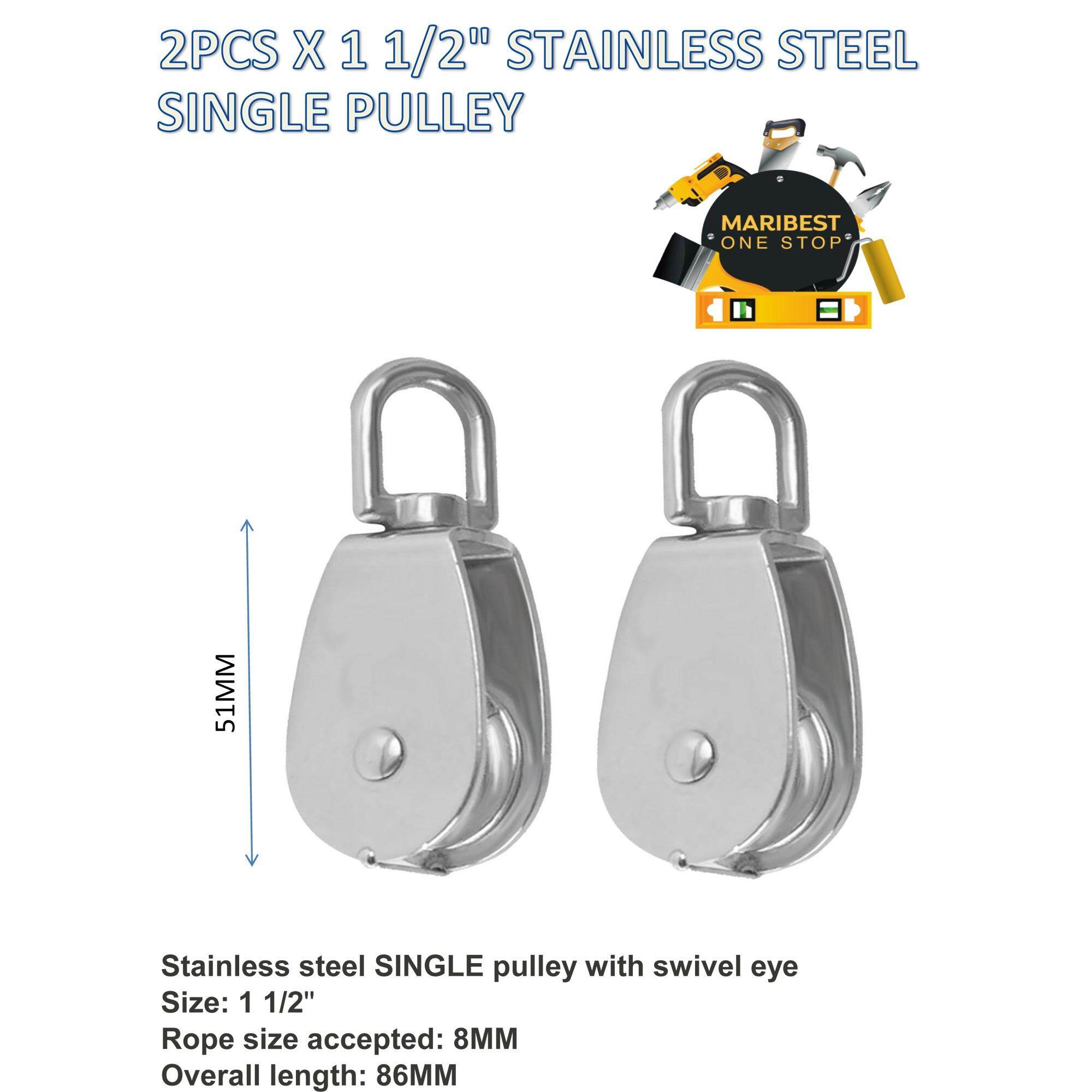 Buy 2PCS X 1 5 STAINLESS STEEL SINGLE PULLEY Malaysia