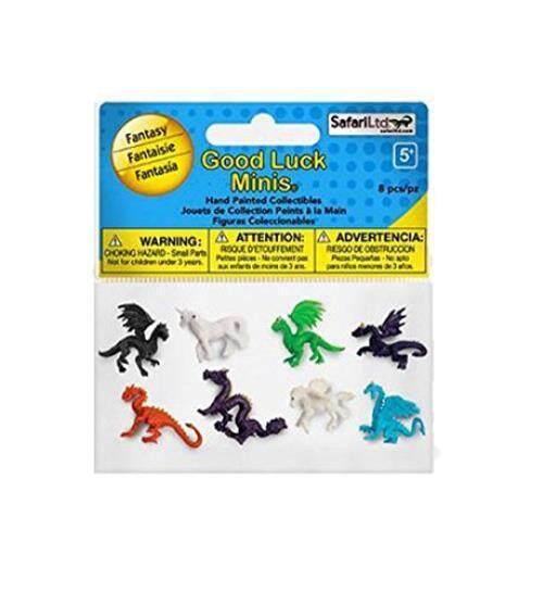 Safari Ltd. baik Luck Minis-Fantasy Fun Bungkus-8 Pieces-Konstruksi Mutu dari Phthalate, pimpinan dan BPA Bebas Materials-untuk Usia 5 dan Ke Atas-Internasional