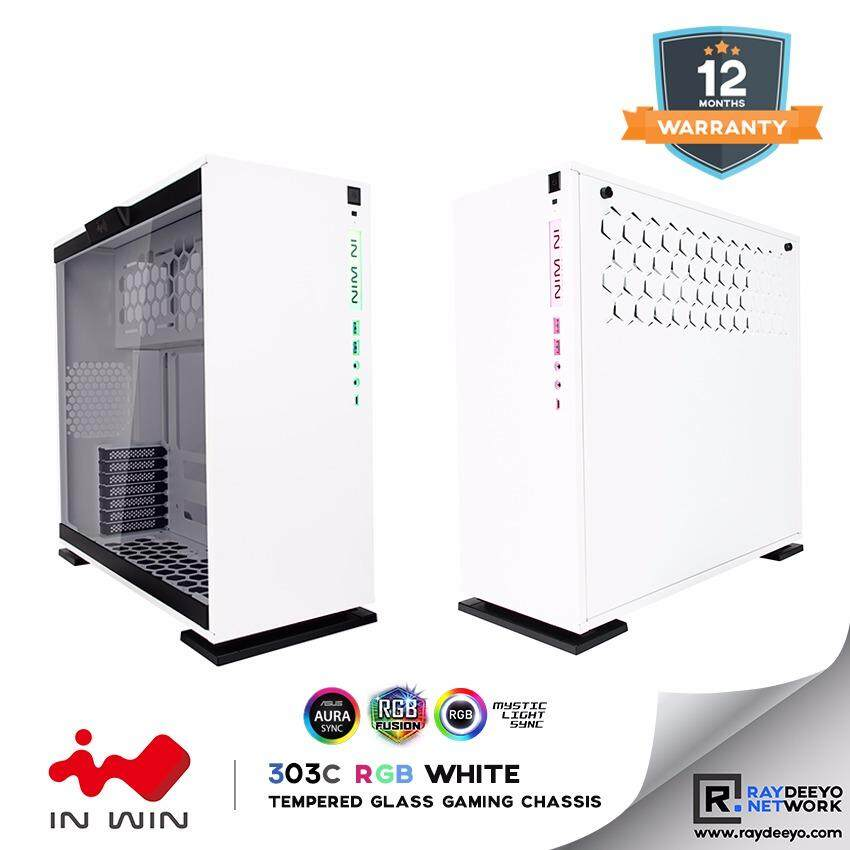 IN WIN 303C RGB (WHITE) Tempered Glass Gaming Chassis [ATX, Matx, Mini-ITX] Malaysia