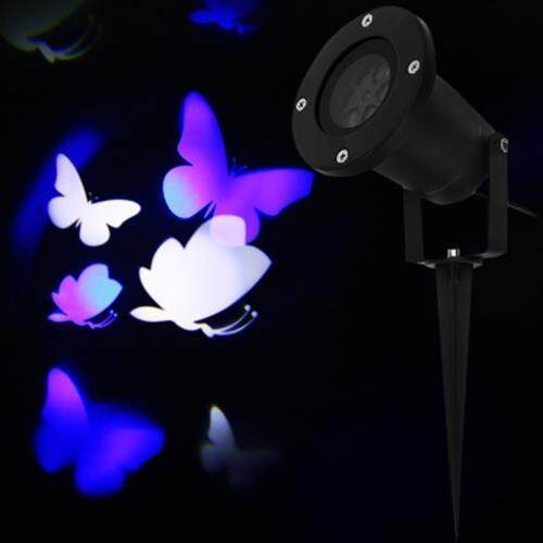 LIGHTME 100 - 240V 4W LED WATERPROOF BLUE AND WHITE BUTTERFLY LIGHT (BLUE AND WHITE)
