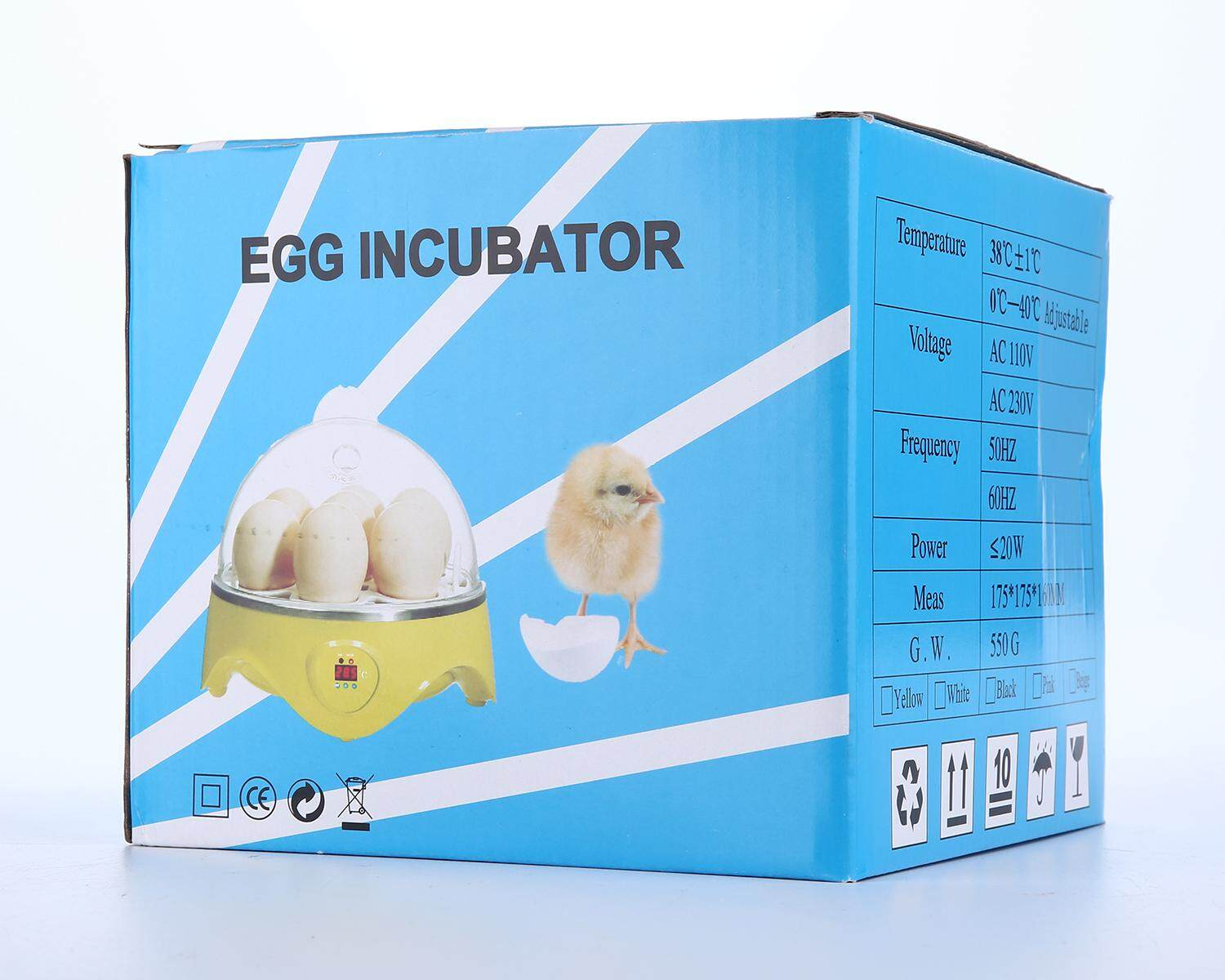 Womdee Uk Plug 7 Eggs Mini Digital Egg Incubator Hatcher Transparent Eggs Hatching Machine Automatic Temperature Control For Chicken Duck Bird Eggs Ac220v - Intl By Womdee.
