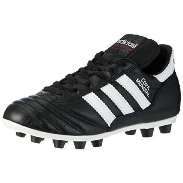 Adidas Performa Pria COPA Mundial Sepatu Sepak Bola, Hitam/Putih/Hitam, Kami-Internasional