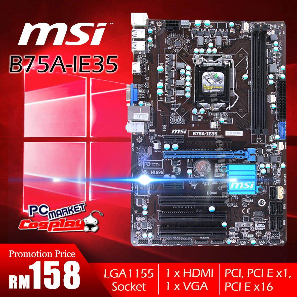 Fitur P55 Motherboard D1156pin Solid State Power Supply Support For H61 Suport I3 I5 I7 Lga 1155 Msi B75a Ie35 Ddr3 Cpu B75 Desktop Intel