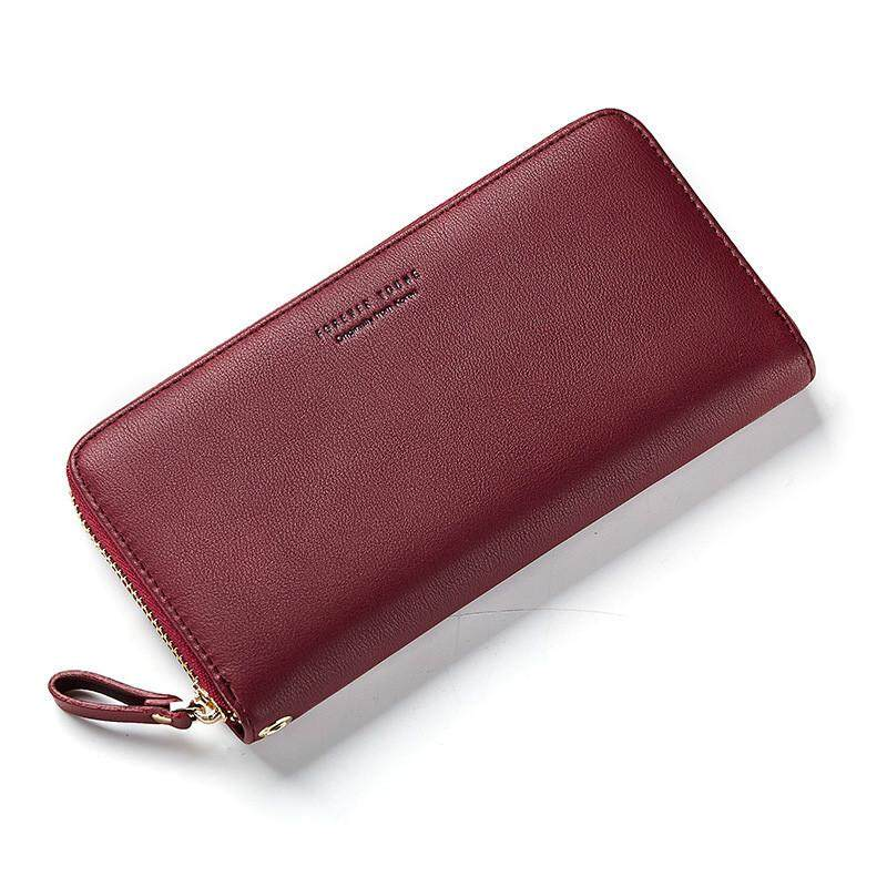 WEICHEN Wristband Women Long Clutch Wallet Large Capacity Wallets Female Purse Lady Purses Phone Pocket Card