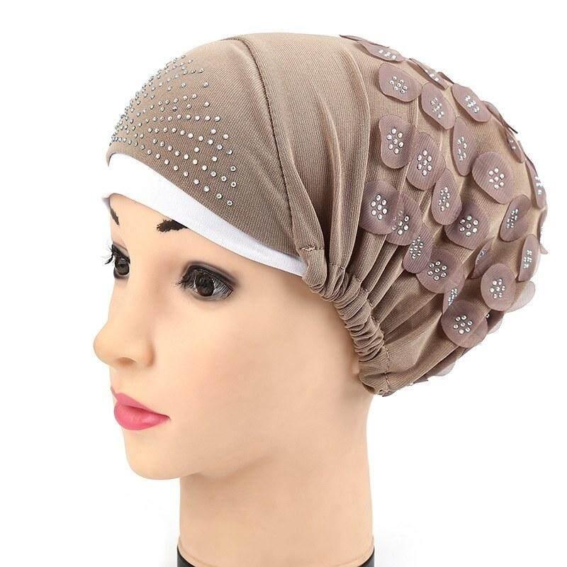 【Yupt】the Baru Berkualitas Tinggi Kelas Waktu Terbatas Khusus Promosi Muslim Regang Sorban Wanita Polos Warna Kepala Syal Jilbab Topi chemo Dapat Disesuaikan Tutup-Internasional