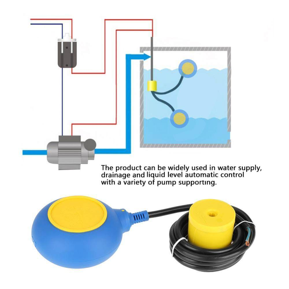 1 PC Saklar Apung Tingkat Cairan Air Controller Sensor Kontaktor 220 V 16A 2 M/78.7 Inch