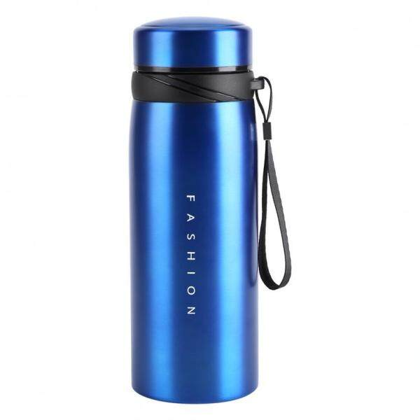 epayst  1Pc 900ml Stainless Steel Water Thermos Cup Tea Coffee Travel Drink Bottle (Blue)