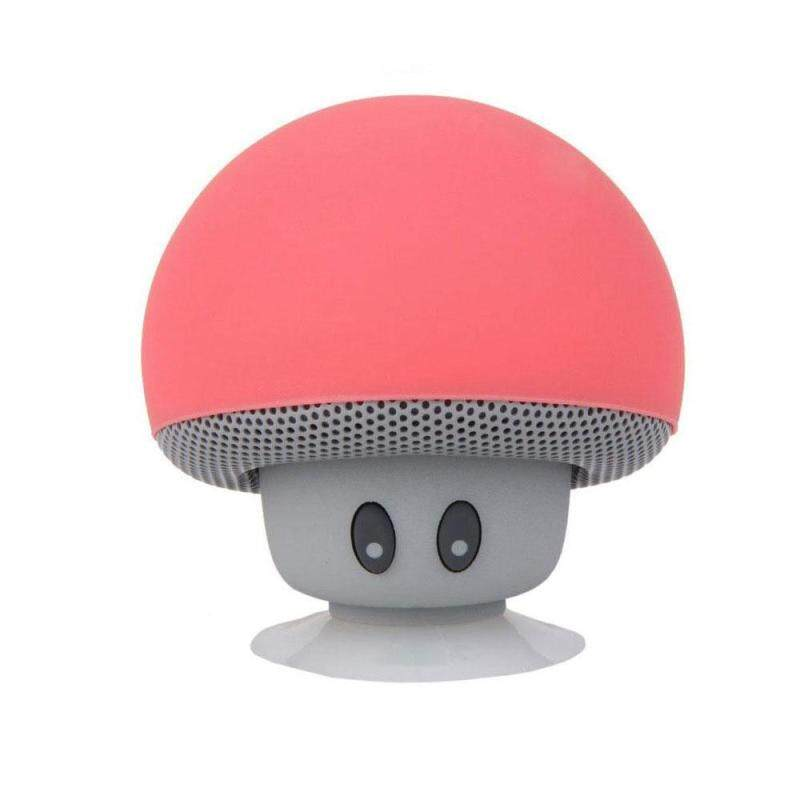 niceEshop New Mini Best Gifts Magnetic Portable Subwoofer Mp3 Player Mobile Phone Cute Mushroom Style Wireless Stereo Bluetooth Speaker 6 COLOR - intl Singapore