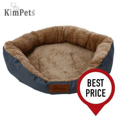 Kimpets Denim Fabric Stylish Washable Pet Dog Cat Bed (BLUE GRAY)