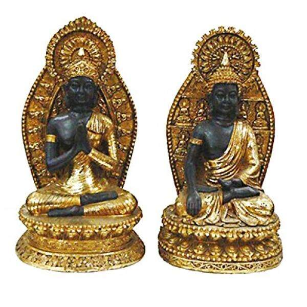 Turtle King Set of 2 of Grand Buddhas Statue, Gold, 2 Piece - intl