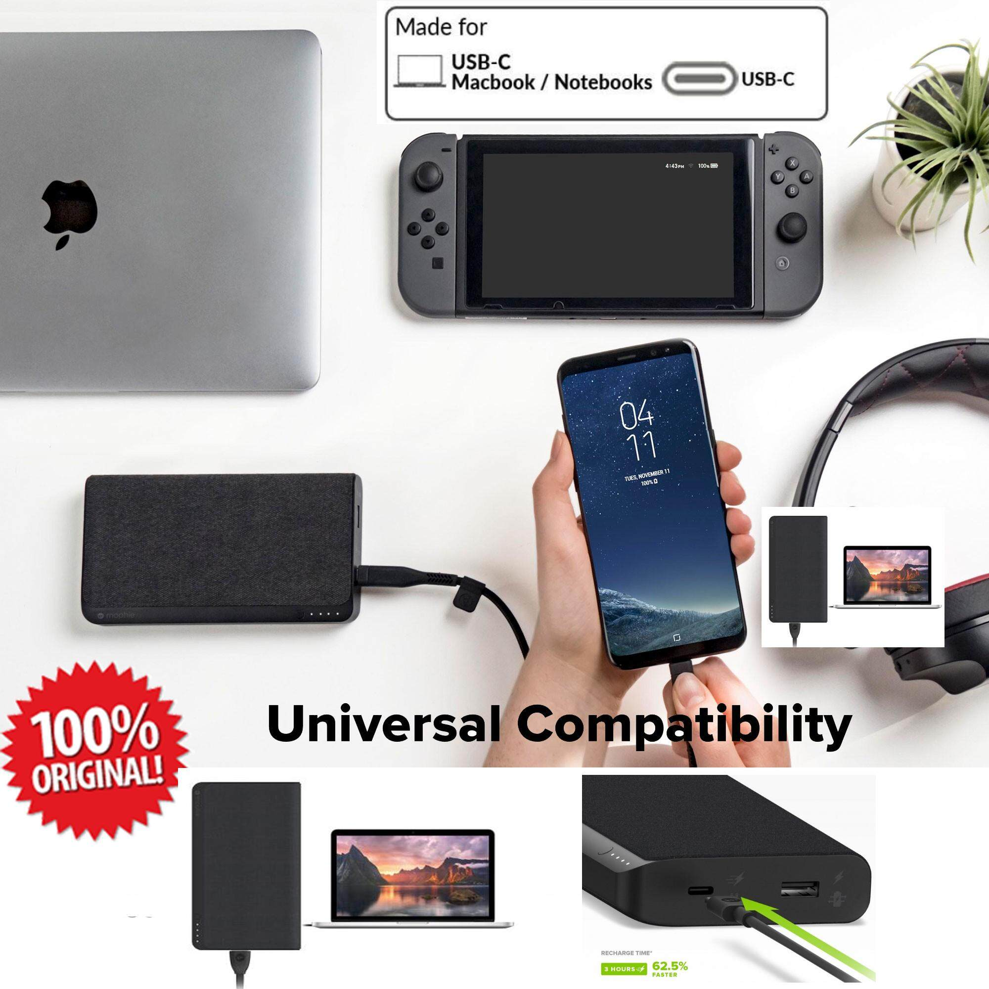 Mophie Powerstation USB-C XXL (19,500mAh)  Universal External Battery for Devices with USB-C or USB-A Connectors (19,500mAh) -  Made for Newest MacBooks and devices with USB-C or USB-A connectors
