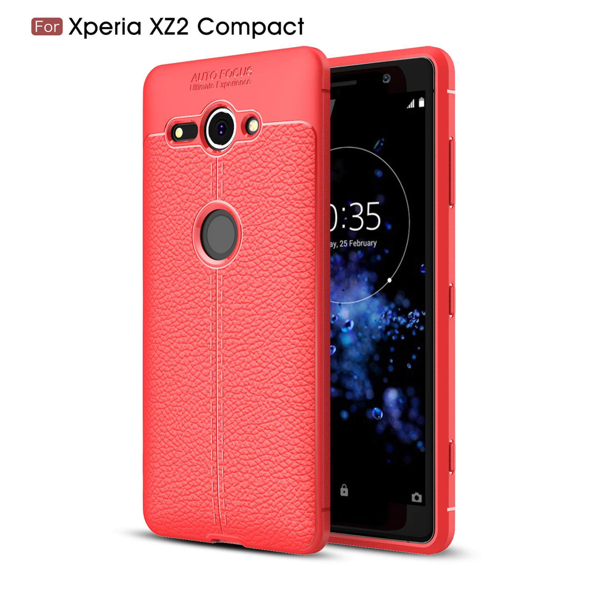 Sony Xperia XZ2 Compact Case, Kunpon 3D Skin Painting Non Slip Armor Shock Absorption Carbon Fiber Texture Soft TPU Leather Full Protection Phone Case Cover Casing for Sony Xperia XZ2 Compact - intl