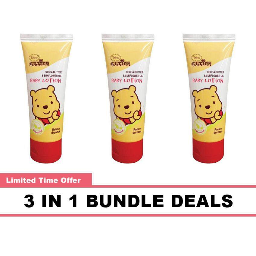 Disney Cuties Baby Lotion 250ML Cocoa Butter & Sunflower Oil 3 In 1 Bundle Deals