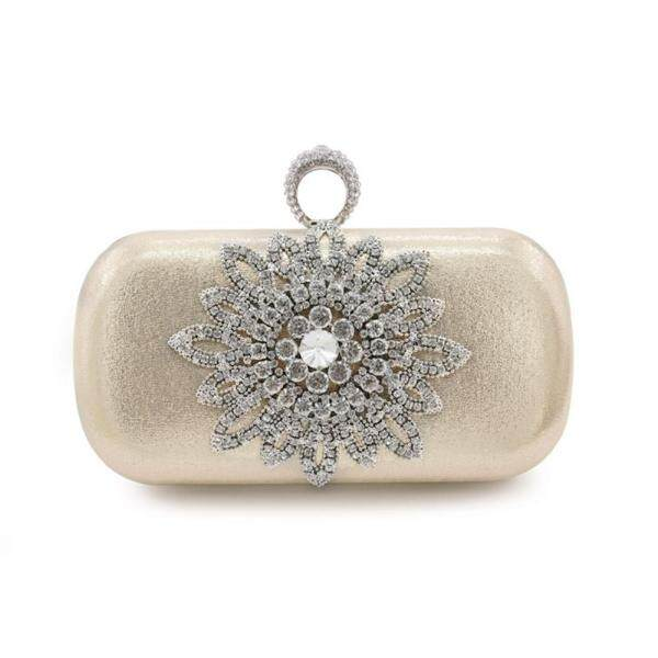 Pu with Diamond Flower Evening clutch bag - intl