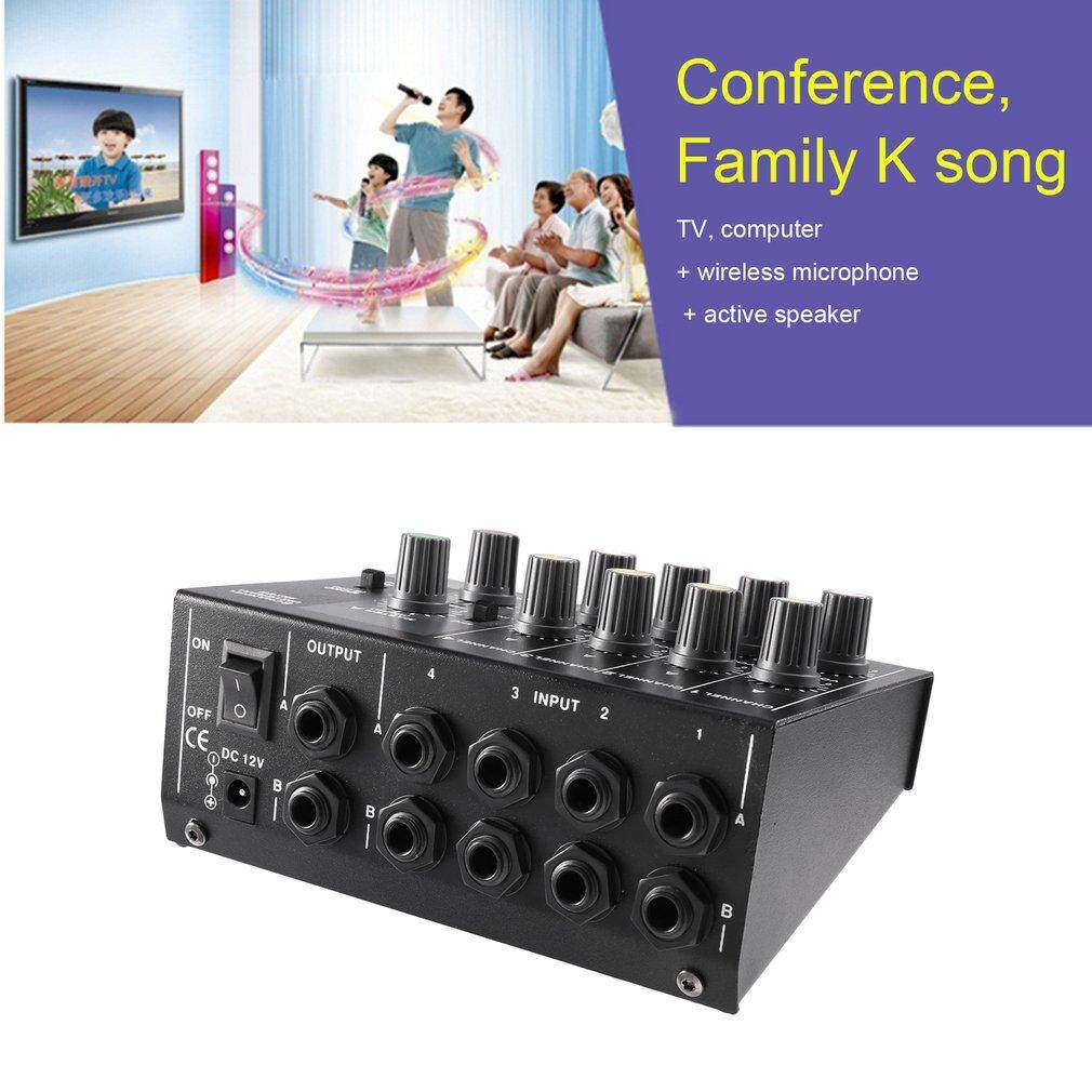 USTORE 8 Channel Digital Mixing Konsol Karaoke Universal Konsol Mixer Mono/Stereo-Intl