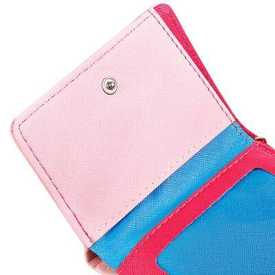 Guapabien Tassel PU Leather Small Women Short Wallet Female Coin Purse Card Holder (PINK)