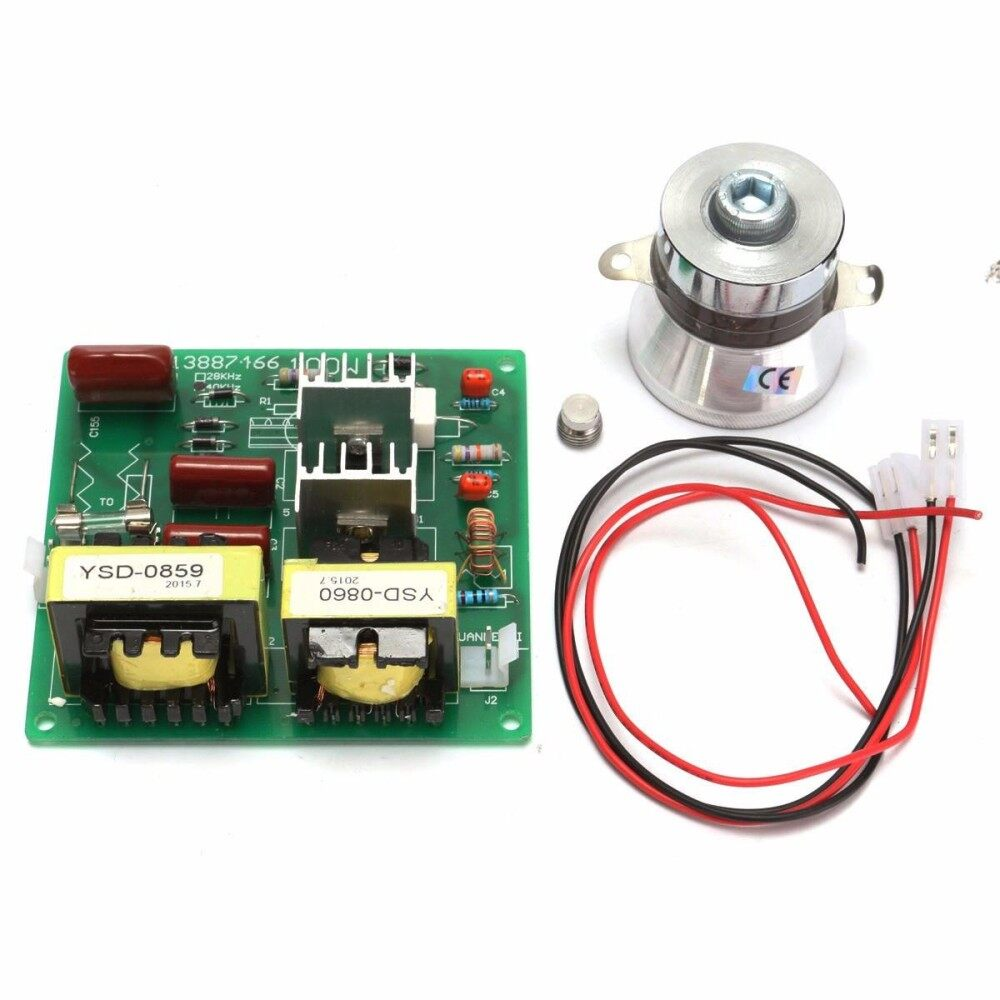 Fitur 100w 28khz Ultrasonic Cleaning Transducer Cleaner Power Driver Circuit Transmitter 110v 40khz Board With 60w