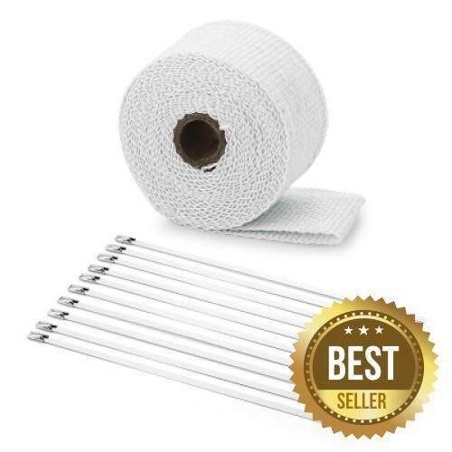 5M Auto Exhaust Tube Heat Wrap Tape for Car Motorcycle (WHITE)