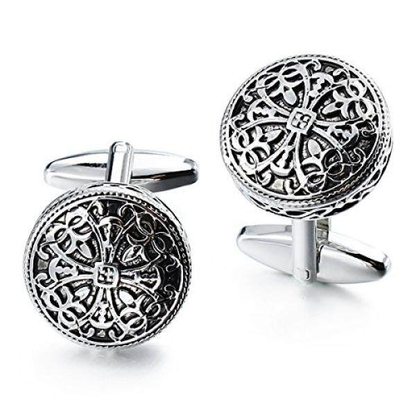 Get The Best Price For Vintage Cufflinks For Men Shirt Retro Folower Pattern Best Wedding Business Gifts For Men With Box Intl