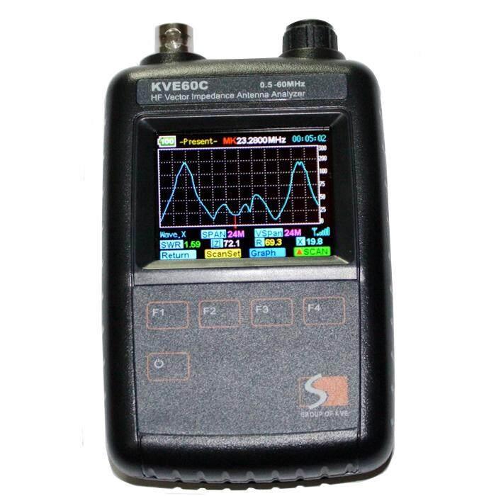 Baru HF Impedansi Vektor Antena Yzer KVE60c untuk Walkie Talkie Representasi Grafis/Ham Radio DIY Versi Pembaruan Mfj Hitam