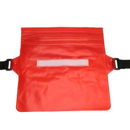 Waterproof PVC Waist Bag Pouch with Adjustable Belt (RED)