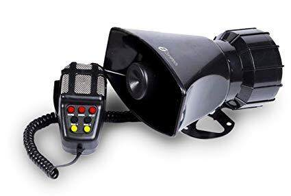3 Tone Sound Car Siren Horn With Microphone PA Speaker System 1314