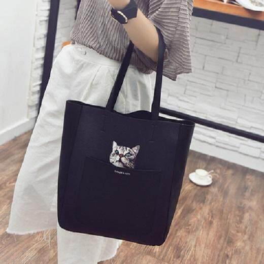 [PRE-ORDER] Japan Lovely Printed Kitten Female Shoulder Handbag (2 Bags)