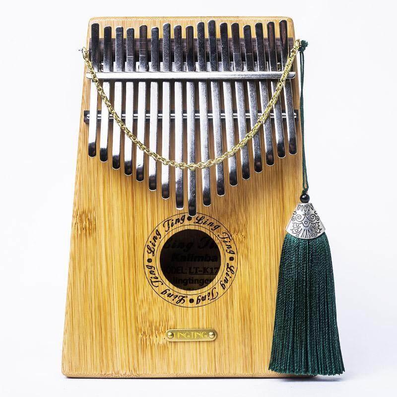 17 Keys Bamboo Finger Mbira Kalimba Keyboard Thumb Pocket Piano Without pickup - intl