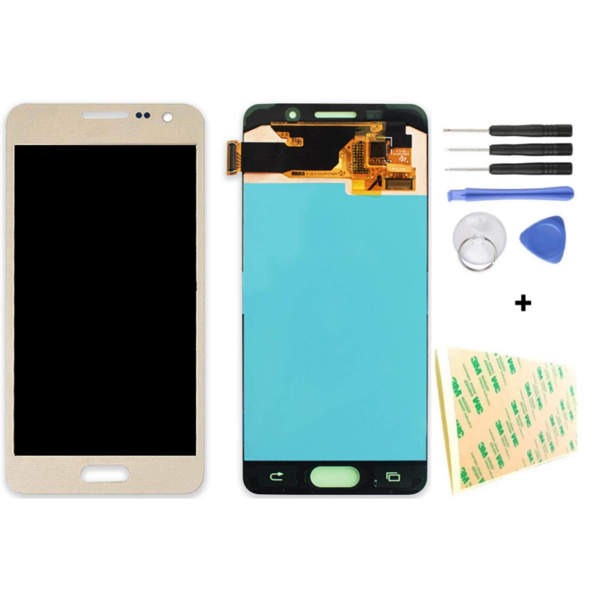 Untuk Samsung Galaksi A3 2016 A310 A3100F A3100 A310F LCD Tampilan Sentuh Scree Ponsel Digitizer Perakitan