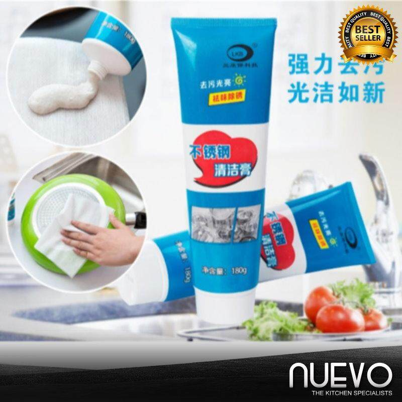 Nuevo 2pcs 180G Multi-Function Stainless Steel Cleaner Decontamination Cream Pot Refurbished Rust Cleaning Agent Cleaner Decontamination Cream