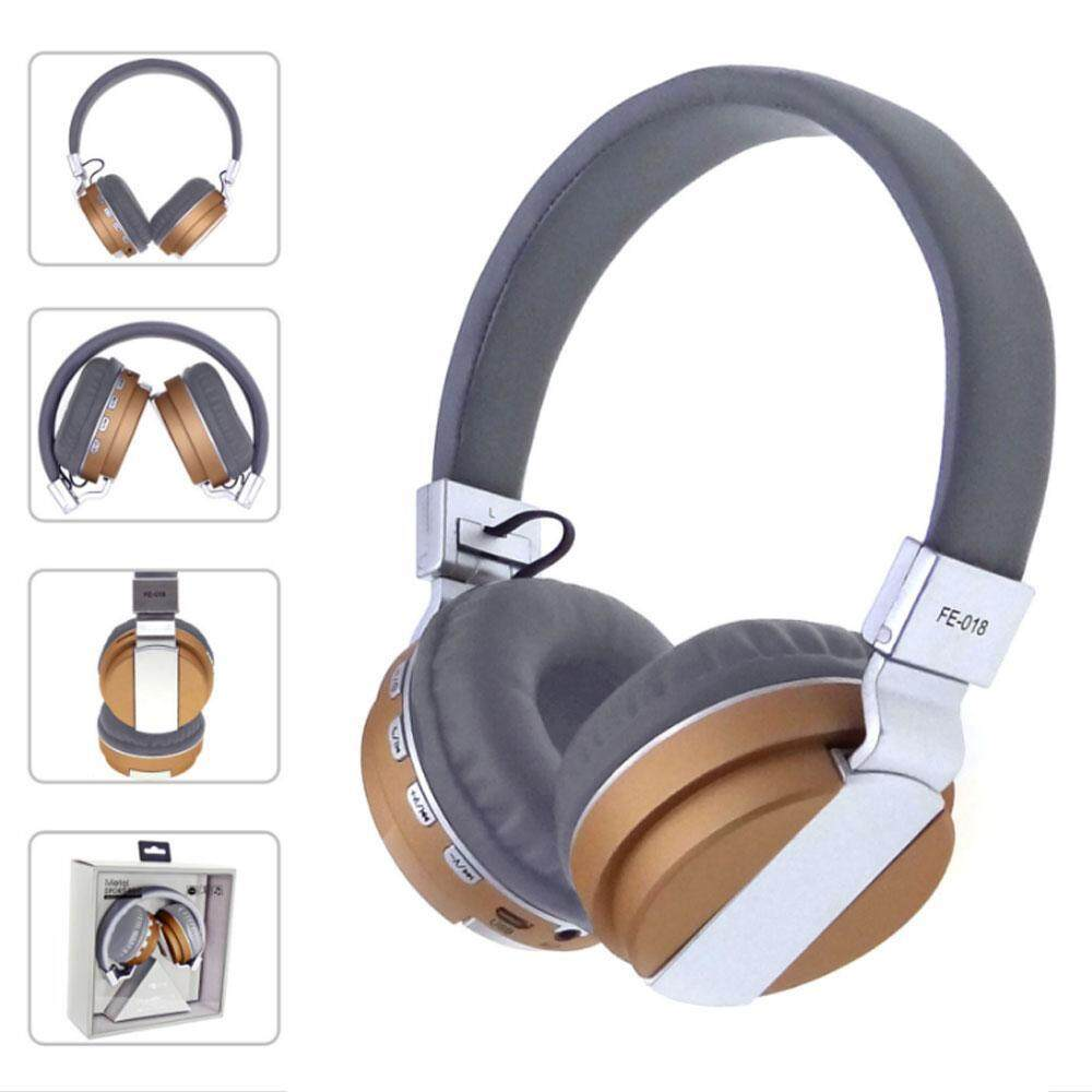 noonbof Foldable Wired and Wireless Headphones, Over Ear Lightweight Folding Hi-Fi Dual Stereo Deep Bass Noise Cancelling Rechargeable Bluetooth 4.2 Headset FM Radio with Microphone Volume Control