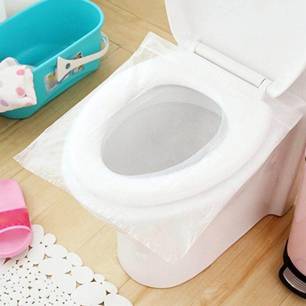 Carcool 10 Pcs/lot Tahan Air Sekali Pakai Disterilkan Dudukan Toilet Kertas Bubur Kayu Mentah
